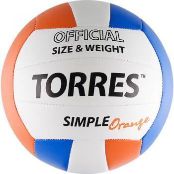 Мяч волейбольный TORRES Simple Orange, арт. V30125