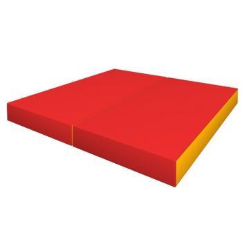 Мат гимнастический скл. 1*1*0,10м КМС (красно-желт) №3