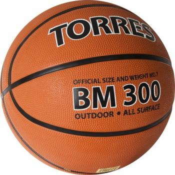 Мяч б/б Torres ВМ300 темнооранж-черн-бел